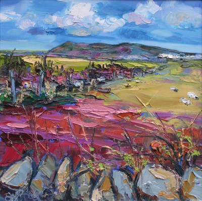 Scottish Artist Judith BRIDGLAND - Across the Fields