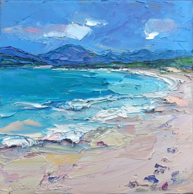 Scottish Artist Judith BRIDGLAND - Waves on the Beach, Harris