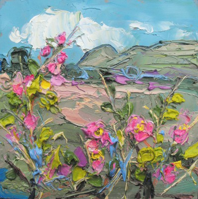 Scottish Artist Judith BRIDGLAND - Dog Roses, Dumgoyne