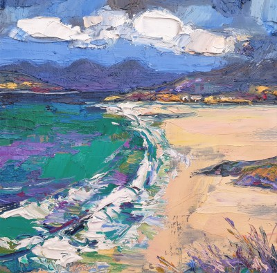 Judith BRIDGLAND - Green Waves, Seilbost Beach, Harris