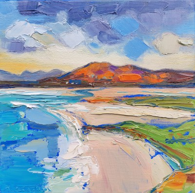 Scottish Artist Judith BRIDGLAND - Evening Sands, Seilebost, Harris
