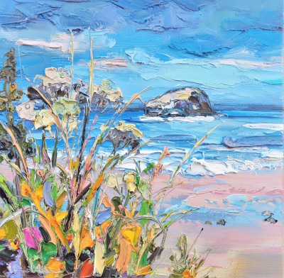 Scottish Artist Judith BRIDGLAND - Cow Parsley, Tantallon Beach