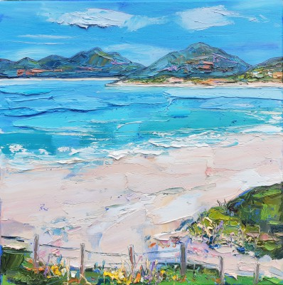 Scottish Artist Judith BRIDGLAND - Seilebost Beach, Harris