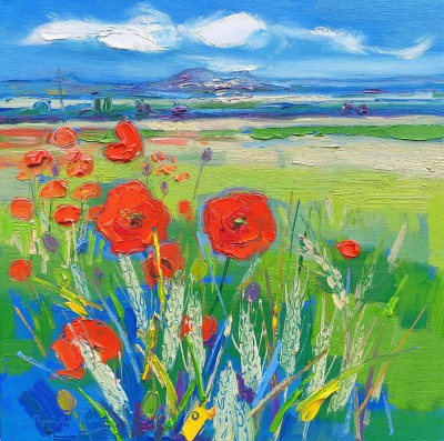 Scottish Artist Judith BRIDGLAND - Poppies at Carberry