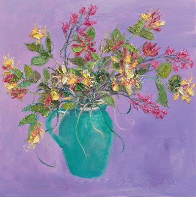 Scottish Artist Judith BRIDGLAND - Honeysuckle and Saxifrage