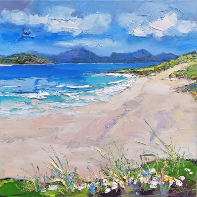 Scottish Artist Judith BRIDGLAND - Grasses at Borve Beach, Harris