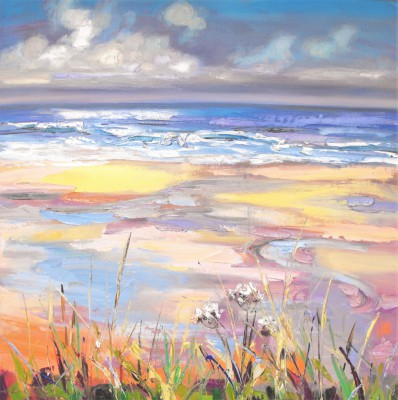 Scottish Artist Judith BRIDGLAND - Clouds and Wet Sand