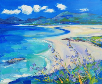 Scottish Artist Judith BRIDGLAND - Harebells at Seilebost