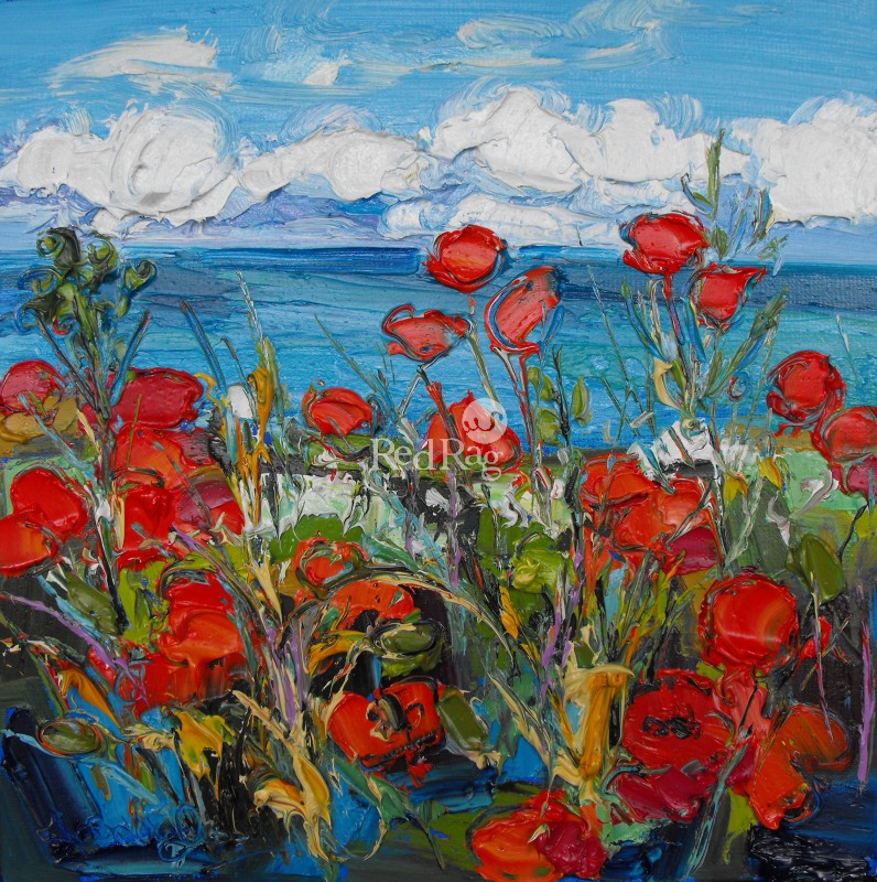 Judith BRIDGLAND - Poppy Fields by the Sea