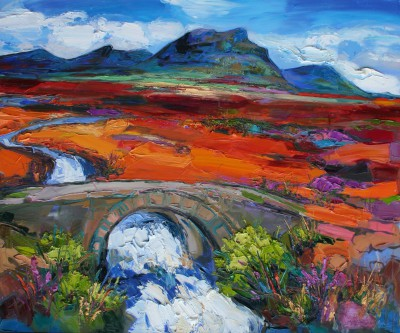 Scottish Artist Judith BRIDGLAND - Quinag Mountains