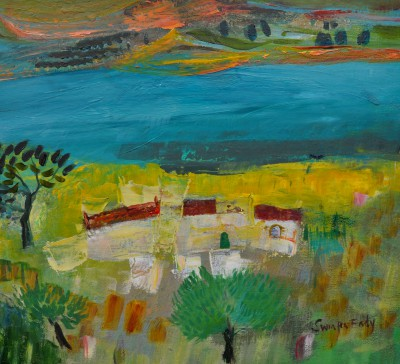Reservoir Farm, Italy painting by artist Katherine SWINFEN EADY