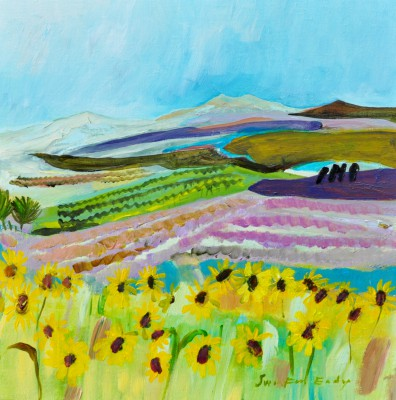 Katherine SWINFEN EADY - Sunflowers and Lavender, Provence