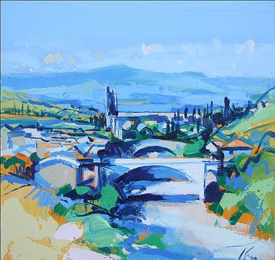 Scottish Artist Peter KING - Lagrasse Corbieres