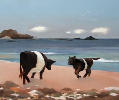 Scottish Artist Lesley McLAREN - Belties on the Beach