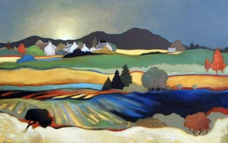 Scottish Artist Lesley McLAREN - The Eildon Hills