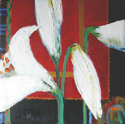 Scottish Artist Liz KNOX - Lily Buds