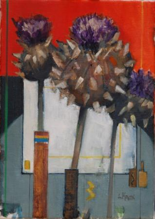 Scottish Artist Liz KNOX - Thistle