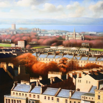 Scottish Artist Louis S McNALLY - Autumnal City