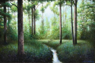 Scottish Artist Louis S McNALLY - Stream In The Woods