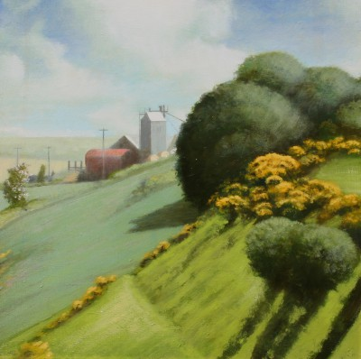 Scottish Artist Louis S McNALLY - Hill Farm