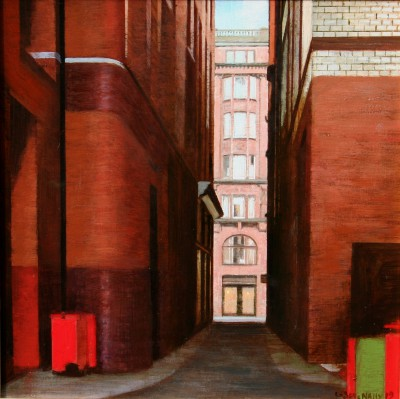 Scottish Artist Louis S McNALLY - Glasgow Close