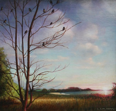 Sundown painting by artist Louis S McNALLY