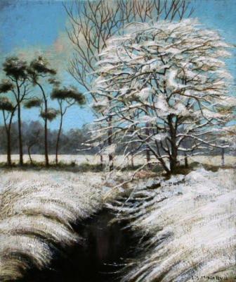 Scottish Artist Louis S McNALLY - Snow