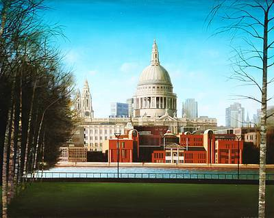 Scottish Artist Louis S McNALLY - View from the Tate