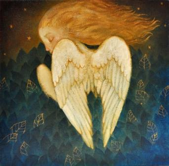 Scottish Artist Lucy CAMPBELL - Fledging Angel