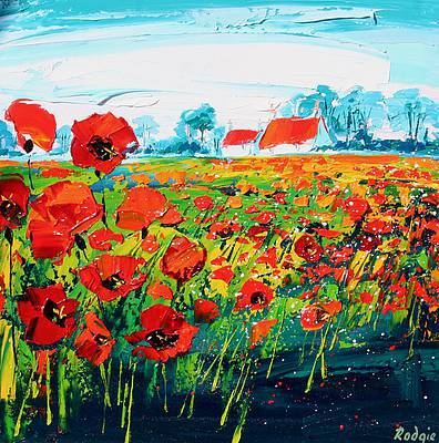 Scottish Artist Lynn RODGIE - Summer Poppies
