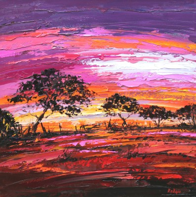 Lynn RODGIE - Sunset Through the Hedgerow