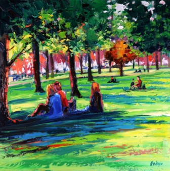 Picnic in the Park by Scottish Contemporary Artist Lynn RODGIE