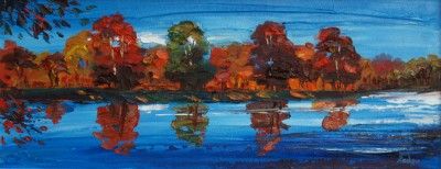 Autumn Reflections painting by artist Lynn RODGIE