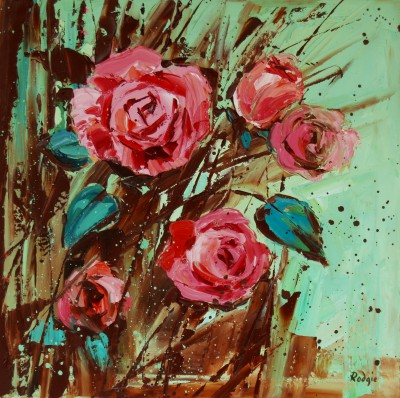 Bunch of Roses painting by artist Lynn RODGIE
