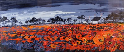 Scottish Artist Lynn RODGIE - Majestic Poppy Field