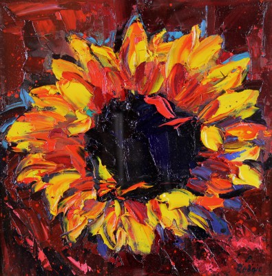 Scottish Artist Lynn RODGIE - Sunflower Head