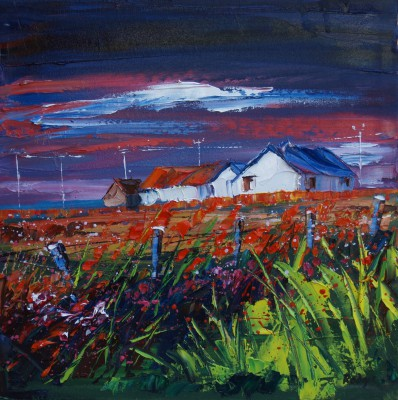 Scottish Artist Lynn RODGIE - Wild Flower Ditch