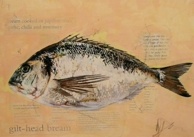 Sea Bream painting by artist Malcolm CHEAPE