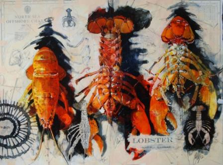 Scottish Artist Malcolm CHEAPE - Lobster Study