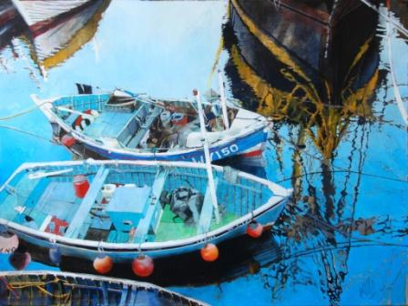 Scottish Artist Malcolm CHEAPE - Tall Ship Reflection