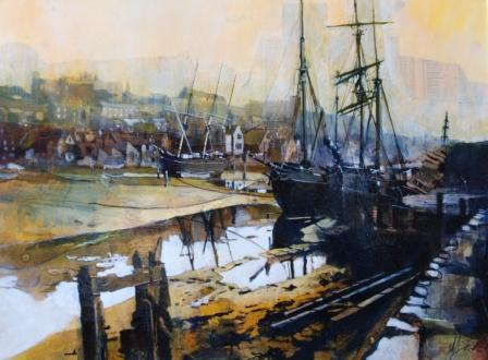 Scottish Artist Malcolm CHEAPE - Harbour Low Tide