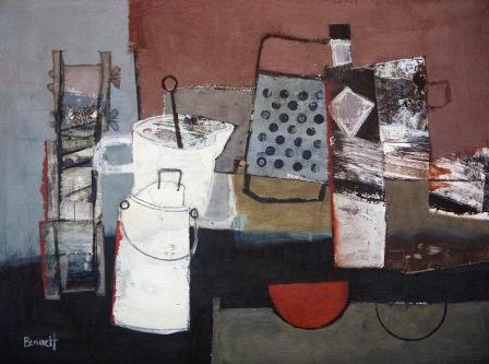 Scottish Artist Margaretann BENNETT - Still Life with Milk Tin