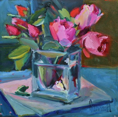 Scottish Artist Marion DRUMMOND - Roses from my Garden