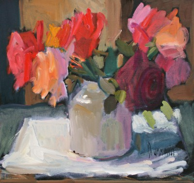 Scottish Artist Marion DRUMMOND - Jan's Roses