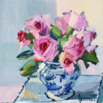 Scottish Artist Marion DRUMMOND - Pink and Blue