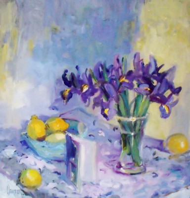 Iris painting by artist Marion DRUMMOND