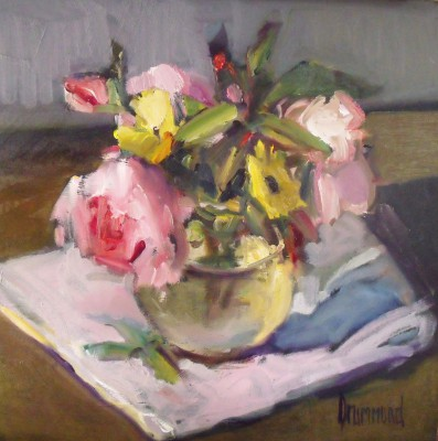 A Posy from my Garden painting by artist Marion DRUMMOND