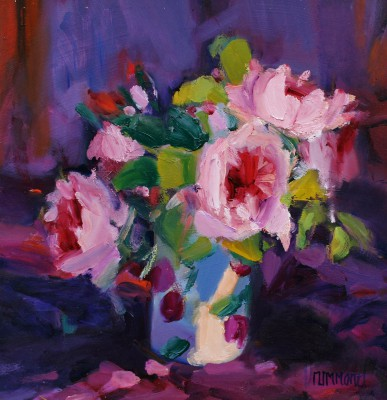 Scottish Artist Marion DRUMMOND - Roses from the Garden