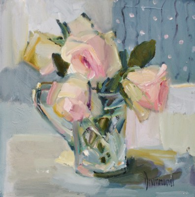 Scottish Artist Marion DRUMMOND - Pastel Roses