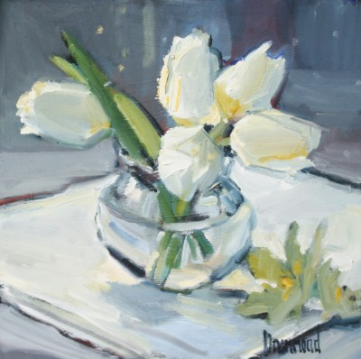 Scottish Artist Marion DRUMMOND - White Tulips